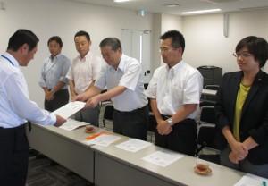 左京区役所の申し入れる左京議員団2017年9月