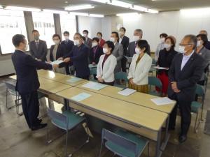 2021年度京都市予算編成に対する要求書を提出